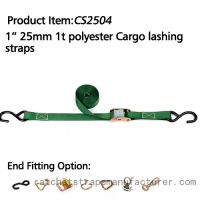"""CS2504 1"""" 1inch 1t ratchet strap with custmuzied ring"""