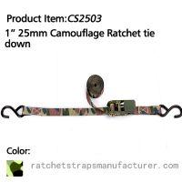 CS2503 1� 25mm Camouflage Ratchet tie down
