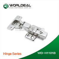 Furniture cabinet hinge self closing clip on type