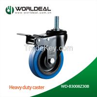 Industrial rubber caster wheel