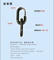 Plastic injection link chain