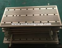 Copper mould plate for slab continuous casting machine