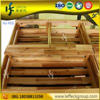 High capacity wooden fruit and vegetable display stand