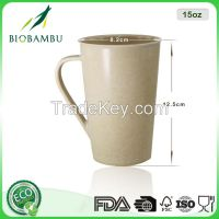 Fancy China supplier Custom logo bamboo fiber cup with handle