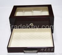 Factory supply high quality wooden watch box with 8 compartments