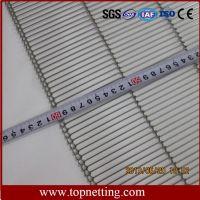 Stainless Steel Enrober Flat Flex Conveyor Belt For Chocolate