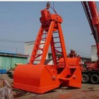 Crane Use Grab Bucket
