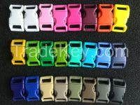 Buckle, curved or straight plastic release buckle