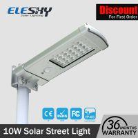 IP65 Waterproof 10W Motion Sensor Solar Street Light All In One For Garden