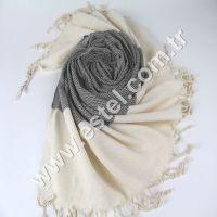 20 cm Wavy Towel Towel white and black Peshtemal for Hamam Bathrobe Spa Pool Massage Sauna Direct from Producer in Turkey