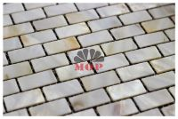 brick shell mosaic tile background wall