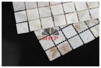 square shell mosaic slab wall tile