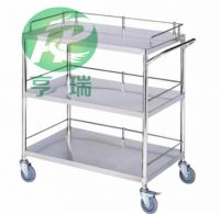 Stainless steel instrument trolley 3 layer