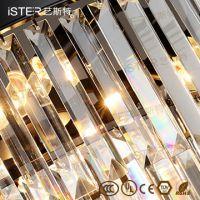 Amber/Grey/ Transparen K9 Crystal Retro led chandelier lamp