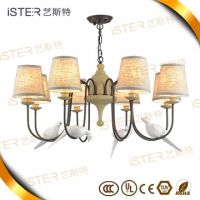 European style led retro chandelier lighting with Resin bird decoration