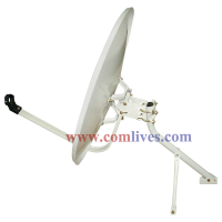satellite dish, satellite antenna, offset dish, prime dish