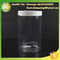 520 gram PET clear nuts packaging jars, plastic containers for flowers tea, clear plastic foodgrade jars