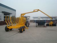 Forest log trailers with crane, log trailers with grapple