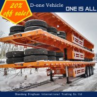 40/45 ft 3 axle flat bed semi trailer utility trailer