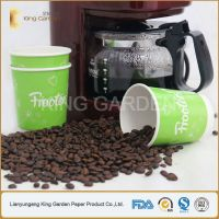 heat insulated double wall paper cup with customized printing