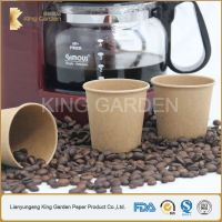 pinted single all paper cup for hot coffee and tea