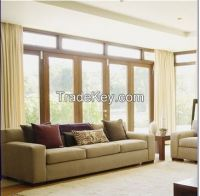 Popular Aluminum Casement Windows with White Powder Coating
