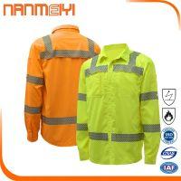 Cotton industrial work shirt flame retardant work shirt hi vis mens work shirts