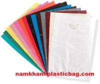 shopping die cut punch out handle bag