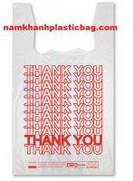 HDPE shopping t shirt plastic bag for UK and EU