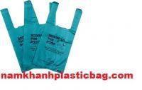 HDPE poop dog waste bag vest carrier plastic bag