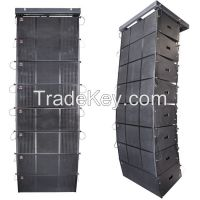 3 way dual 12 inch line array speaker system pro audio