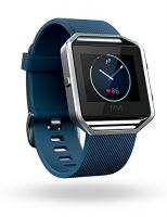 Blaze Smart Fitness Watch, Blue, Silver, Large