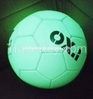 Promotion/High Quality/Winding Bladder/Glow in Dark PU Soccer Ball/foo