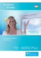 Aero Plus window mounted hygro controlled air inlet, against mold, for gas appliances