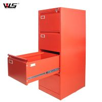 Southeast Asia popular Metallic 4 Drawer A4 Filing Cabinet in Red