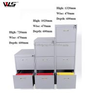 Luoyang WLS high quality Steel Storage Metal 4 Drawers Vertical Filing Cabinet For Office