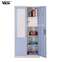 High quality double swing door godrej steel almirah with mirror
