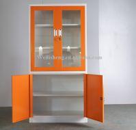 Wholesale swing metal book rack cabinet/ steel almirah godrej photo