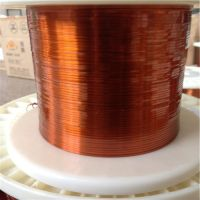 Self-bonding and self-fluxing polyesterimide flat enamelled wires