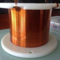 Polyamide-imide flat enamelled wire