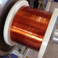 Self-bonding polyamide-imide flat enamelled wires