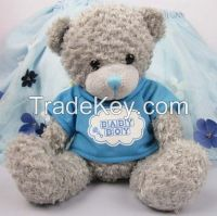 cute high quality dress cloth stuffed teddy bear plush toy for sale