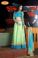 Gown and lehanga cholis with embroidery
