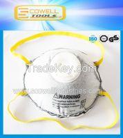 N95 active carbon face dust mask, disposable dust mask