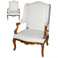 Pair of 19th Century French Wing Chairs