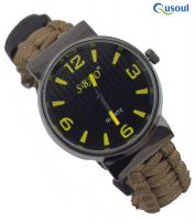 Paracord Survival Bracelet Waterproof Watch Fire starter