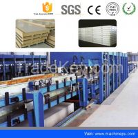 Discontinuous polyurethane cold room panel making production line