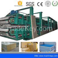Polyurethane pu continuous sandwich panel production line