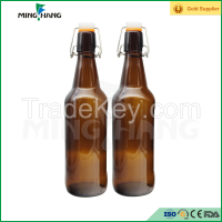 500ml amber glass wine bottle with swing cap