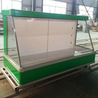 Vertical combined multi-deck refrigerator equipment vegetable fruit display showcase